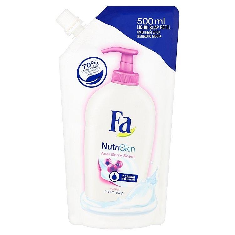Fa NutriSkin pečující krémové mýdlo s vůní ovoce acai náhradní náplň 500 ml