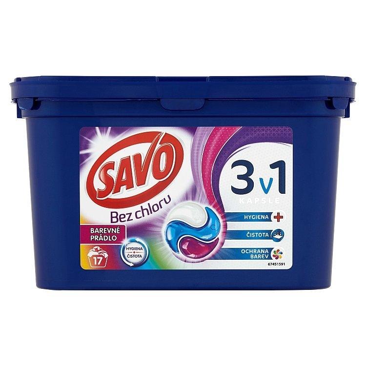 Savo Color trio kapsle na praní bez chloru (17 praní)