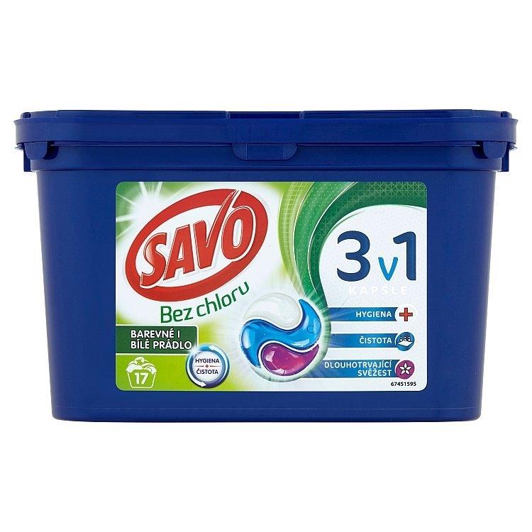 Savo Universal trio kapsle na praní bez chloru (17 praní)