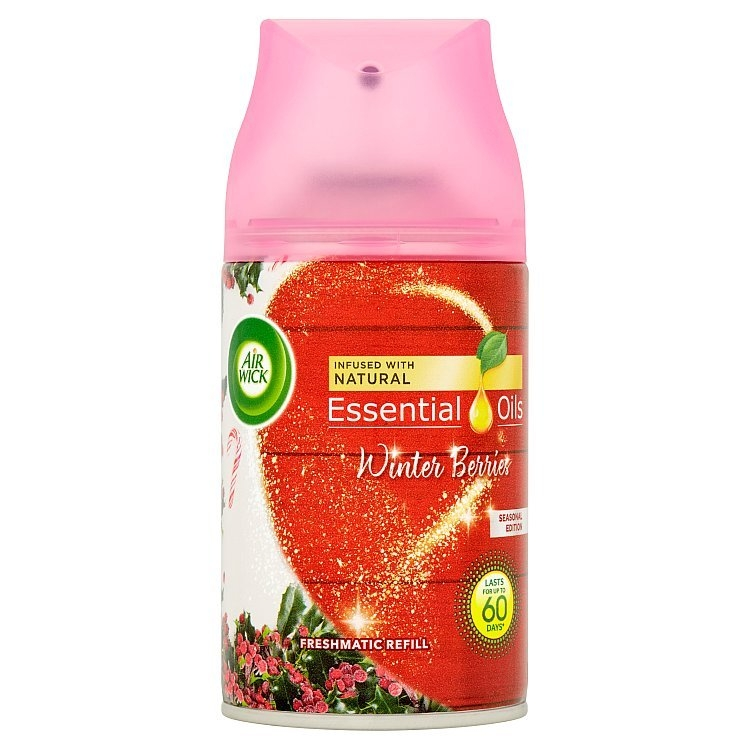 Airwick Freshmatic Essential Oils náhradní náplň do osvěžovače vzduchu - Zimní bobule 250 ml