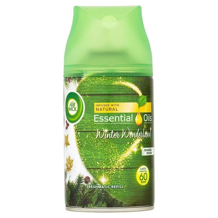 Airwick Freshmatic Essential Oils náhradní náplň do osvěžovače vzduchu - Zimní zázračná krajina 250 ml