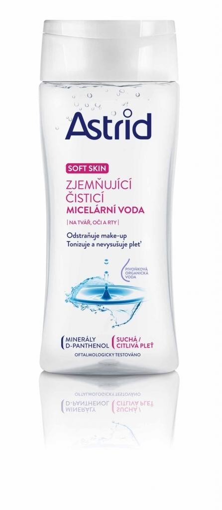 Astrid Soft Skin zjemňující čisticí micelární voda pro suchou a citlivou pleť 200 ml