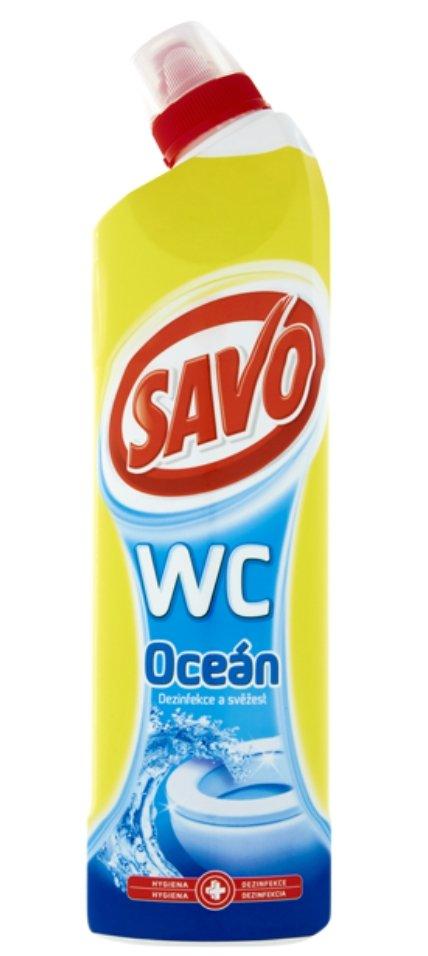 Savo WC Oceán čisticí a dezinfekční přípravek na toalety 750 ml