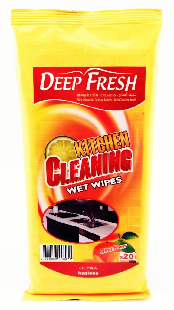 Deep Fresh čistící ubrousky do kuchyně 20 ks