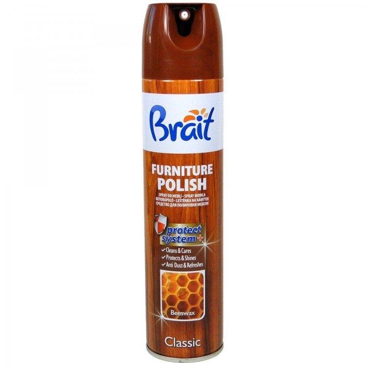 Brait Classic Beeswax leštěnka na nábytek s včelím voskem 350 ml