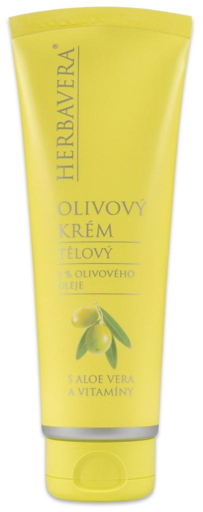 HERBAVERA Olivový krém s aloe vera a vitamíny 120 ml