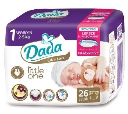 Dada Extra Care plenkové kalhotky vel 1, (2-5 kg) 26 ks