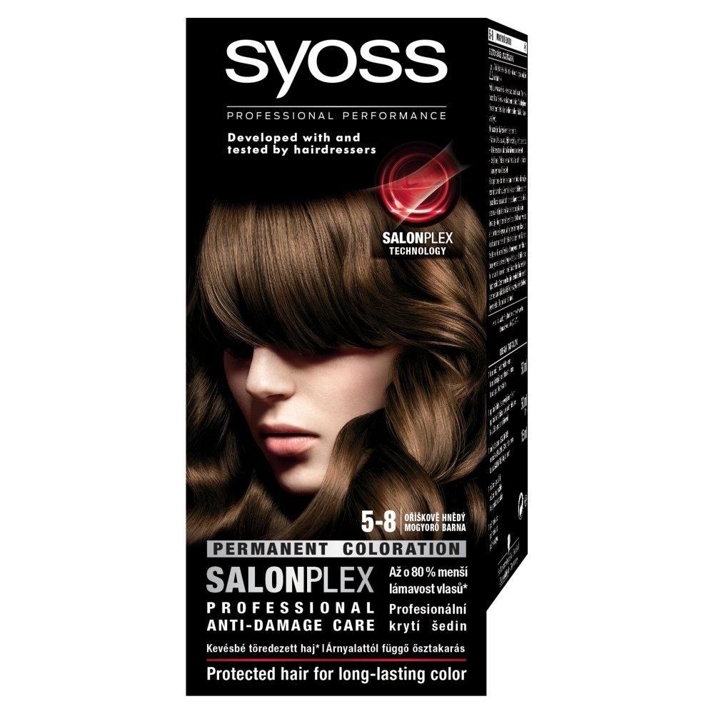 Syoss barva na vlasy Oříškově Hnědý 5-8