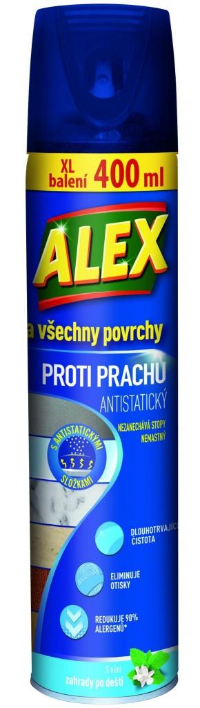 Alex ALEX všechny povrchy proti prachu - aerosol 400 ml