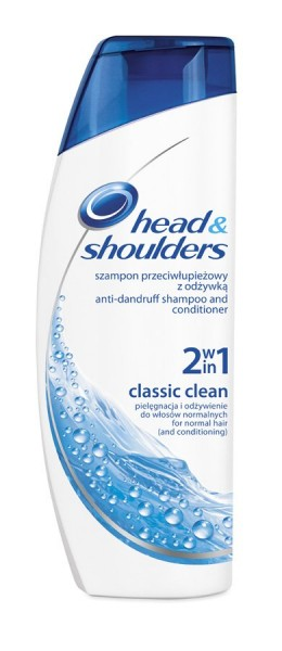 Head & Shoulders Classic Clean 2 v 1 šampon a balzám proti lupům  400 ml