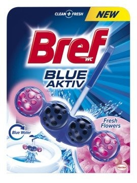 Bref Blue Aktiv WC blok, Fresh Flower 50 g