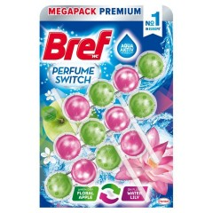 Bref Perfume Switch Floral Apple / Water Lily pevný wc blok  3 x 50 g