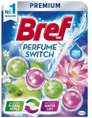 Bref Premium kuličky do WC, Switch Perfume Apple/Lily, 50g