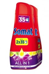 Somat All in 1 Lemon & Lime gel do myčky, 2 × 35 dávek, 2 × 630 ml