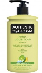 Authentic toya Aroma ice lime & lemon tekuté mýdlo, 400 ml
