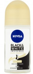 Nivea Black & White Invisible Silky Smooth kuličkový antiperspirant, 50 ml