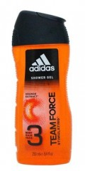 Adidas 3v1 Men Team Force orange sprchový gel 250 ml