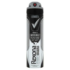 Rexona Invisible Black+White antiperspirant sprej pro muže 150 ml