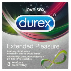 Durex Extended Pleasure kondomy 3 ks